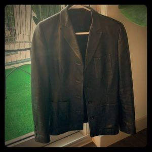 Gucci leather jacket size 42